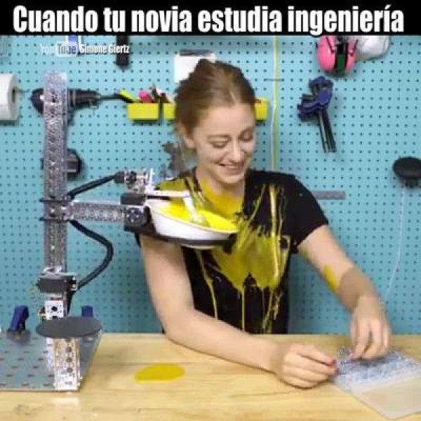Quando sua namorada está estudando engenharia, para rir e compartilhar!
