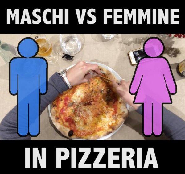 Aprenda a diferença entre homem e mulher em uma pizzaria, Verdade?