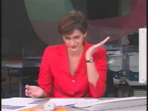 As aparências engana, a repórter não aguenta e começa a dar risadas!