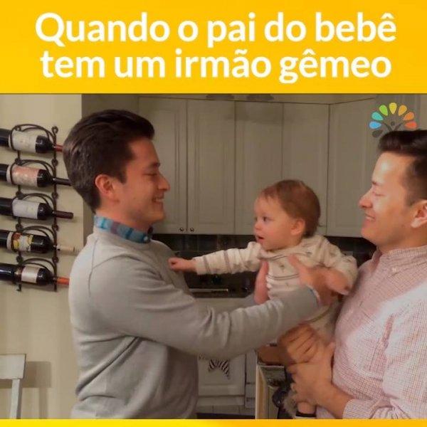 Crianças confusas com papais gêmeos, é para rir muito e compartilhar!