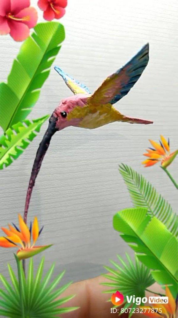 Beija-flor feito de papel, uma escultura linda para representar os animais!
