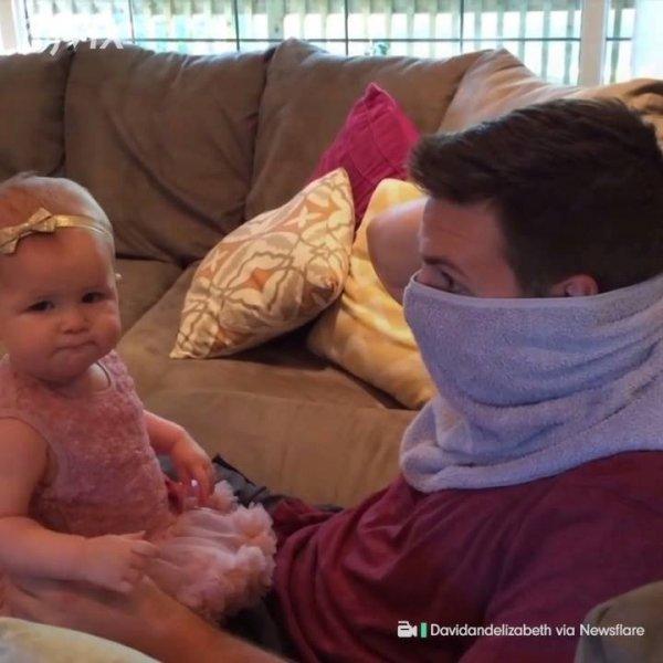 Bebê não reconhece o papai após ele fazer a barba, veja a reação dela!!!