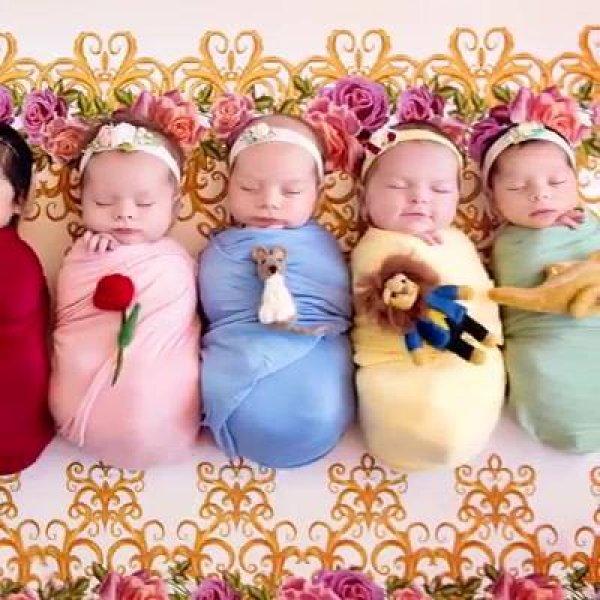 Ensaios fotográficos de bebês inspirados em princesas de desenhos animados!