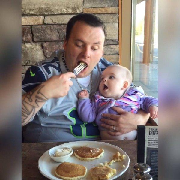 Momentos entre bebês e seus papais, as melhores risadas estão aqui!