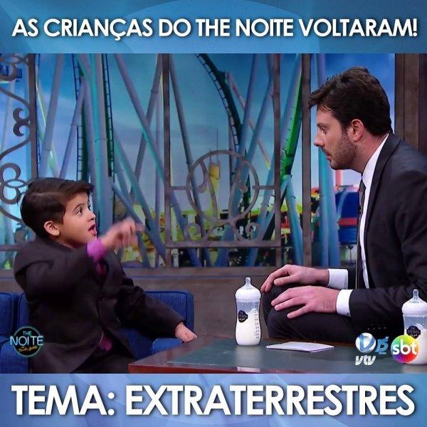 Crianças em programa de televisão falando de Extraterrestre!