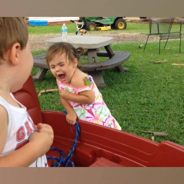 Crianças tendo ataques de sustos com animais em parques, para rir muito!
