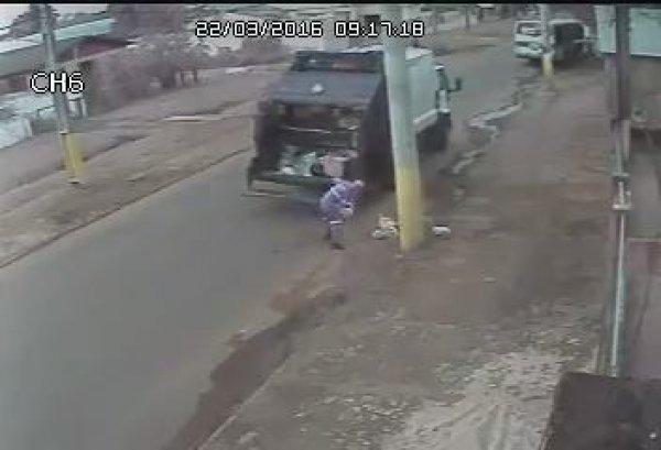 Gari é filmado por câmera de segurança fazendo algo que a maioria não faz!