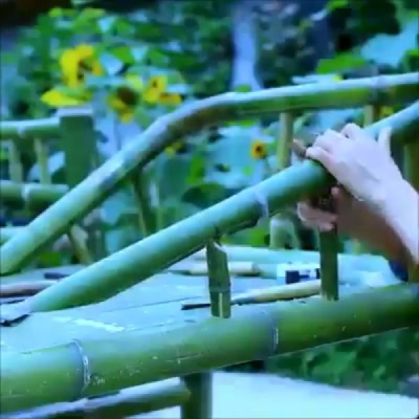 Impressionante o que esta mulher constrói com bambus, confira!!!