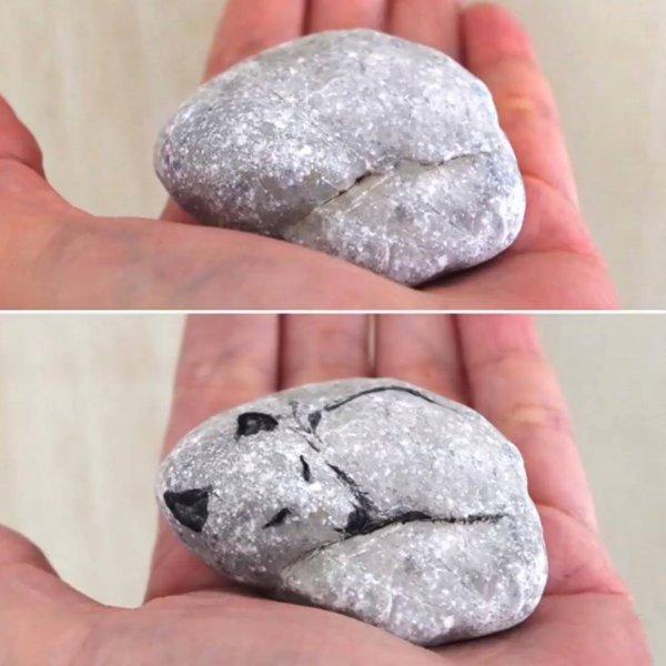 Obras artísticas de animais feitos em pedras, que criatividade incrível!