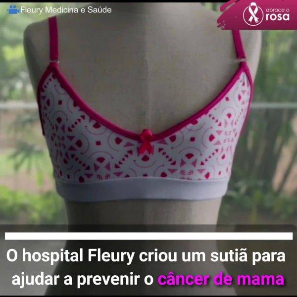Sutiã rosa, uma iniciativa do hospital Fleury para conscientizar mulheres jovens