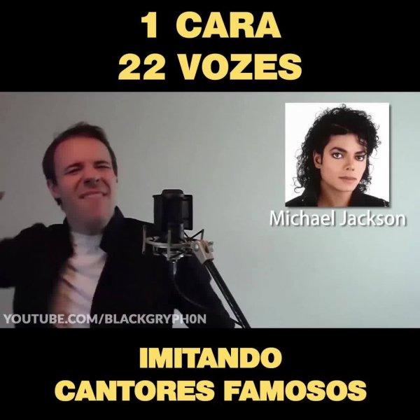 Imitador de vozes consegue imitar 22 cantores, que talento hein!