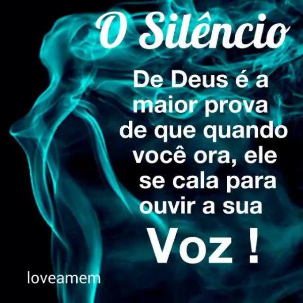 Mensagem o silêncio de Deus, compartilhe com seus amigos do Facebook!