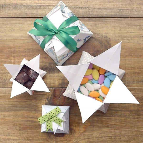 Tutorial de caixa de presente origami, um jeito fácil e barato de embrulhar!!!