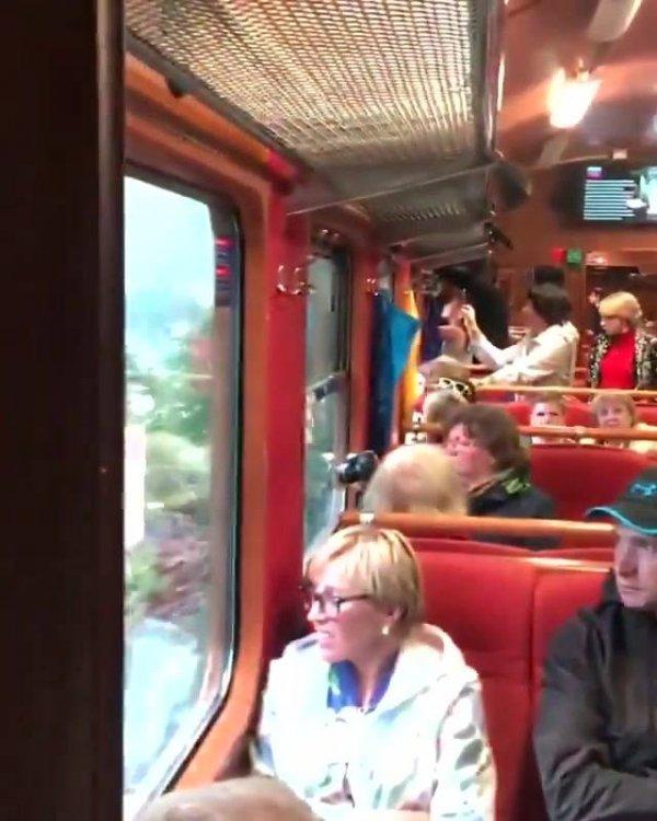 Passeio de trem na Europa, olha só quanta natureza, que lugar belíssimo!!!