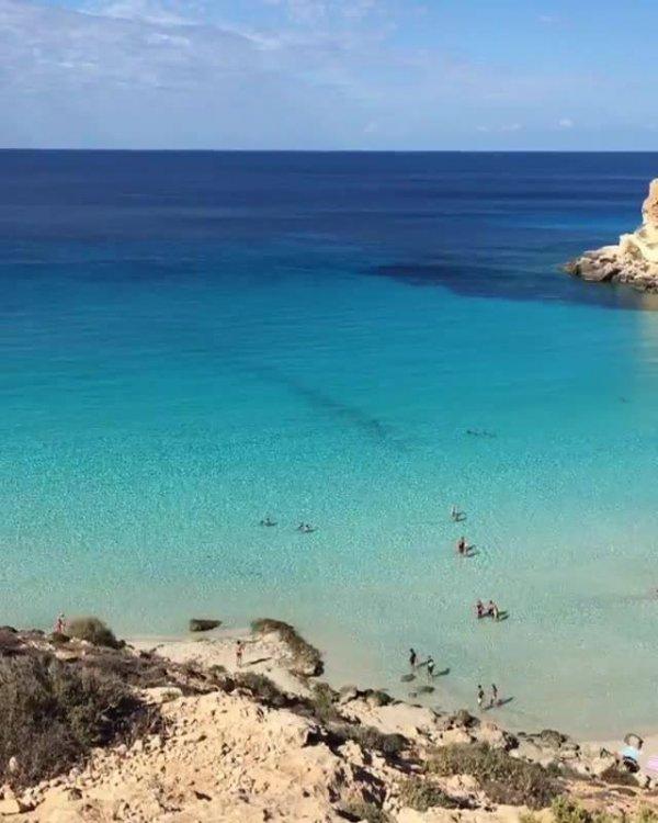 Spiaggia dei Conigli uma praia de águas cristalinas, um verdadeiro paraíso!!!