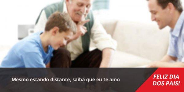 Mensagem Dia dos Pais longe. Mesmo estando distante, saiba que eu te amo!!!