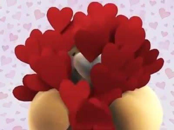 Quer mandar um beijo fofo pra aguem? Esse vídeo é uma ótima opção?