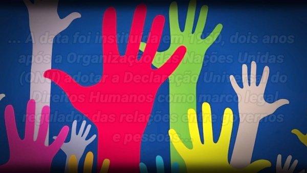 Dia 10 de Dezembro é Dia Internacional dos Direitos Humanos!