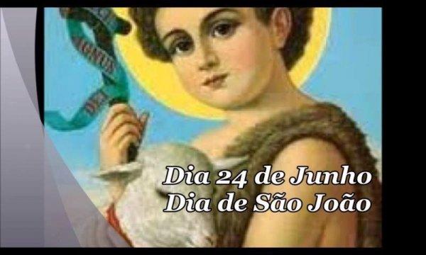 Dia 24 de junho é Dia de São João o Santo Festeiro, Viva São João!!!