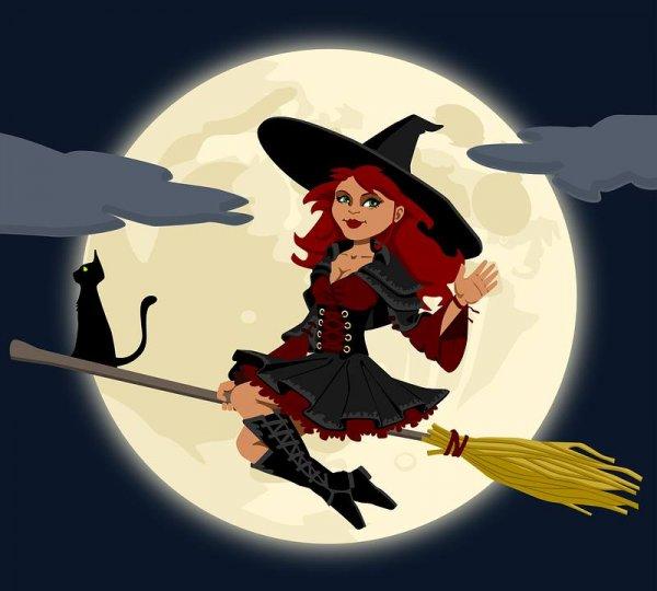 Fiz um feitiço para você. Dia 31 de outubro é Dia das Bruxas!!!