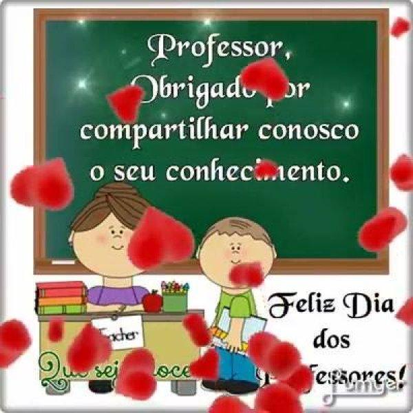 Mensagem de Feliz Dia dos Professores! Que deus abençoe cada professor!!!