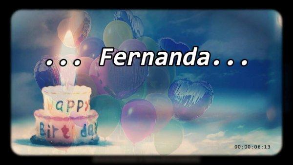 Feliz aniversário Fernanda - Video de aniversario para Fernanda, baixe agora!