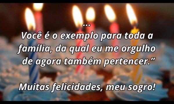 Mensagem de Aniversário para Sogro - Você é exemplo para toda a família!