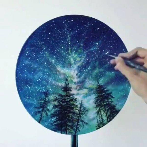 Arte de transformar um disco de vinil em uma paisagem magnifica!!!