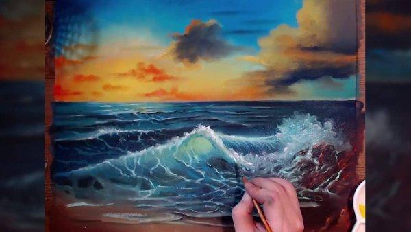 Arte desenhar paisagens maravilhosas, olha só este lindo por do sol!!!