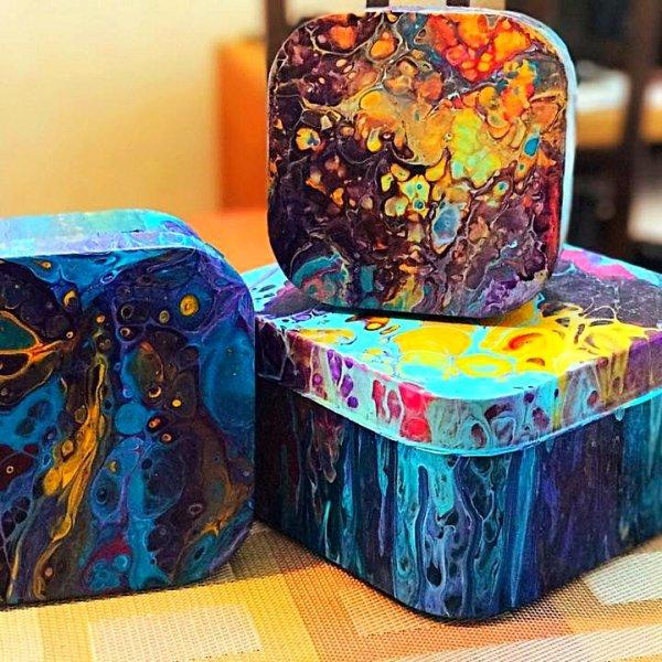 Caixas decoradas com obras de artes, veja como é feito!