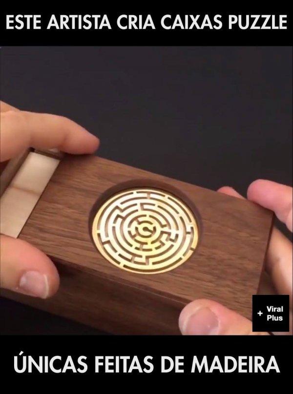 Criatividade de criar caixas puzzle, caixa segredo de madeira!!!