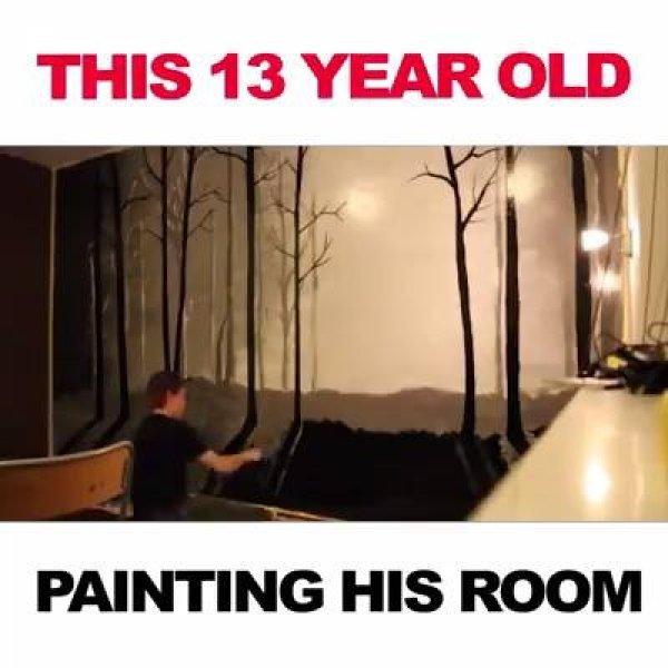 Desenho realístico de paisagem em quarto, o resultado impressiona!