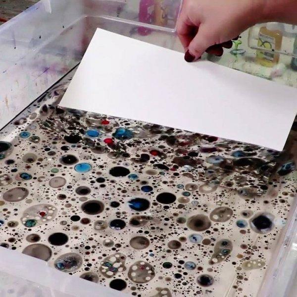 Obra de arte que sai da água, o resultado é muito bonito!