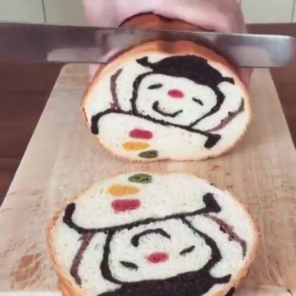 Pães que são verdadeiras obras de artes, espere o pão ser cortado para ver!