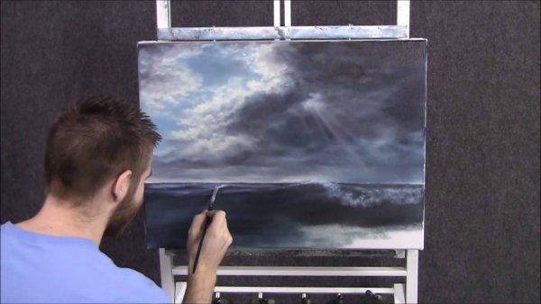 Pintura de céu e mar, simplesmente perfeito uma verdadeira obra de arte!!!