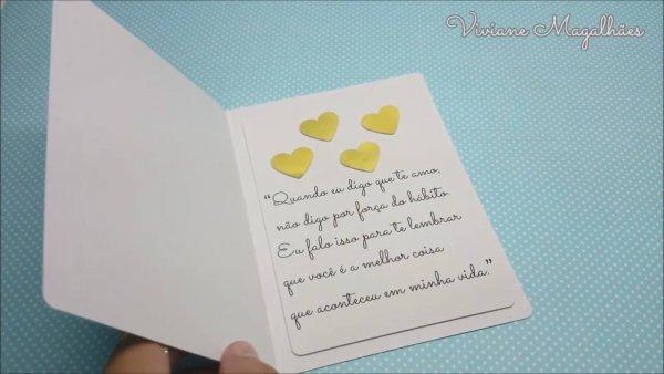 Aprenda a fazer um lindo cartão para o dia dos namorados, fica muito lindo!