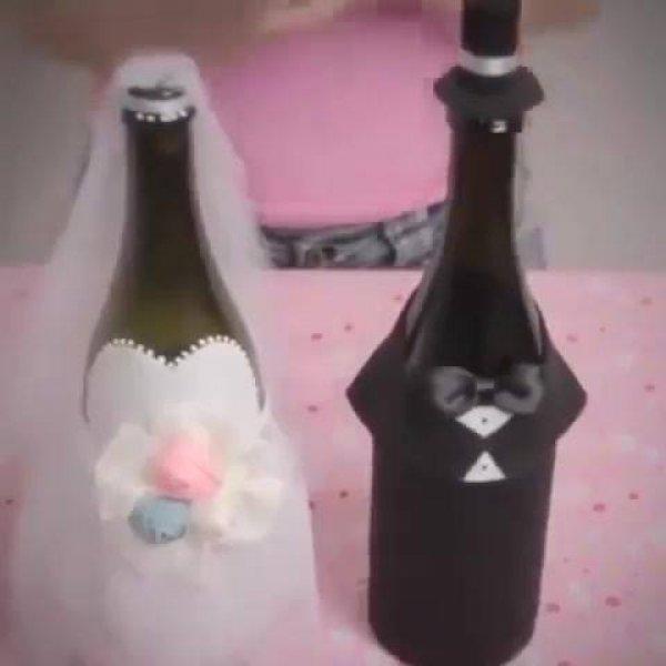 Artesanato com garrafa, aprenda a fazer uma linda decoração para casamento!!!