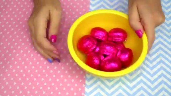 Artesanato com vasinho de flor com trufas de chocolate para pascoa!!!