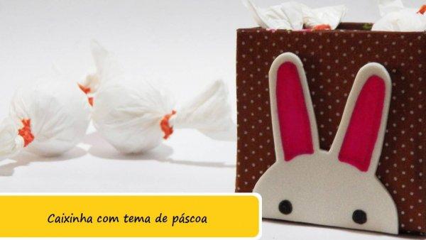 Caixinha decorada com coelhinho para a Páscoa, bem fácil de fazer!
