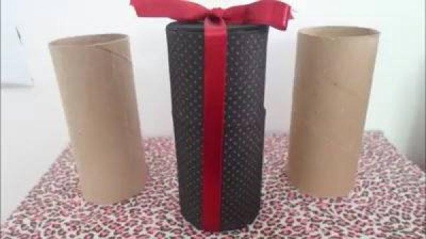 Caixinha para lembrancinha para o dia dos pais, feito com rolinho de papel!