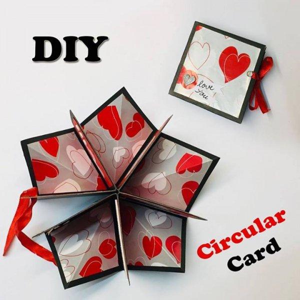 Cartão artesanal para o dia dos namorados, super lindo e diferente!