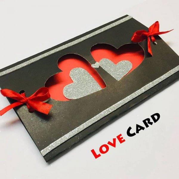 Cartão artesanal sofisticado para o dia dos namorados, super lindo!