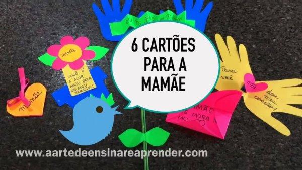 Cartões para o dia das mães, são 6 opções para escolher a que mais gostar!