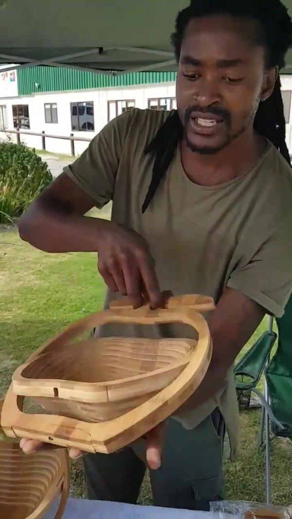 Cesta em formato de maçã, que cira uma tábua, que ideia incrível!
