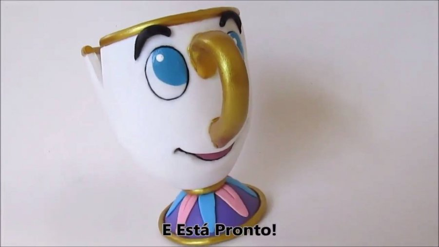 como fazer uma xícara de um desenho famoso as crianças amam