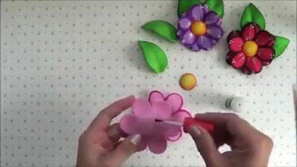 Flores 3D feitas com EVA, são verdadeiras obras de artes!