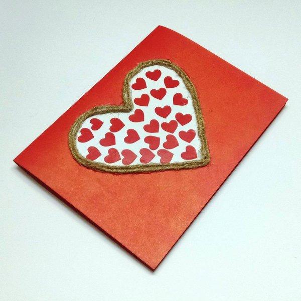 Ideia de cartão para o dia dos namorados, mais um artesanato lindo!