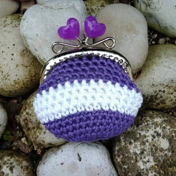 Mini porta-moeda de Crochê, são modelos incríveis, confira!