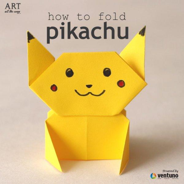 Origami de personagem de desenho, fica bem bonitinho, confira!