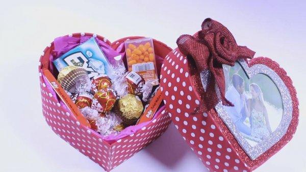 Presente para o dia dos namorados fácil de fazer, uma caixa de coração!